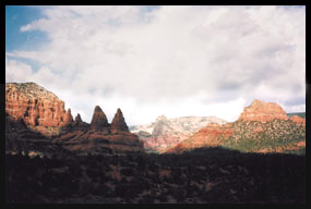 The beautiful red rock formations of Sedona, Arizona
