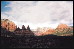 The beautiful red rock formations of Sedona, Arizona