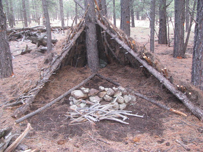 Learn to make shelters from materials in the woods during our Outdoor Survival Courses.